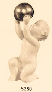 5280 cherub with gold ball