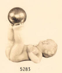 5283 cherub balancing ball on feet