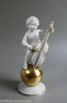 Putti Playing Cello